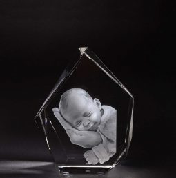3D Glas Eisberg L