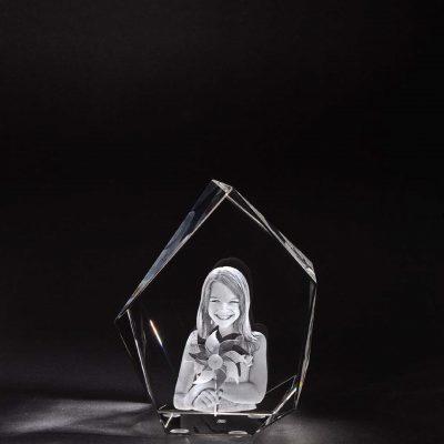 3D Glas Eisberg M