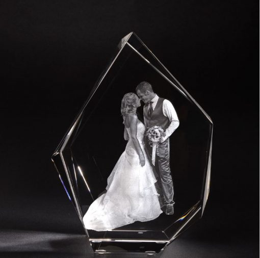 3D Glas Eisberg XL