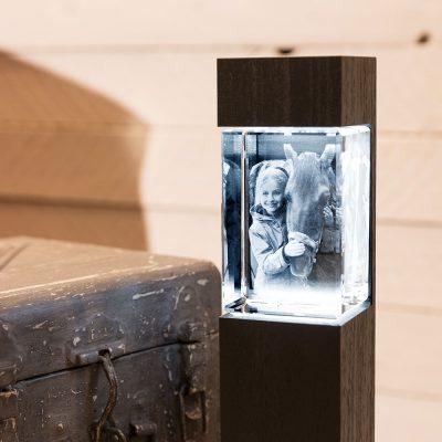 Leuchtstelen für 3D-Glas