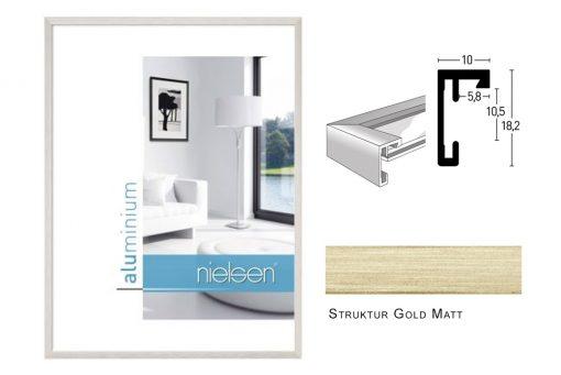 Aluminium Rahmen Nielsen C2 Struktur Gold Matt
