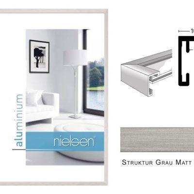 Aluminium Rahmen Nielsen C2 Struktur Grau Matt