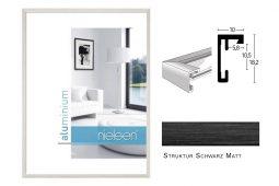 Aluminium Rahmen Nielsen C2 Struktur Schwarz Matt
