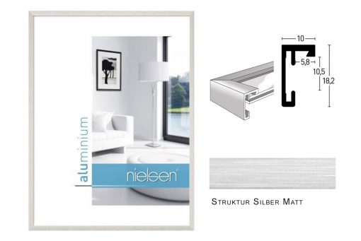 Aluminium Rahmen Nielsen C2 Struktur Silber Matt