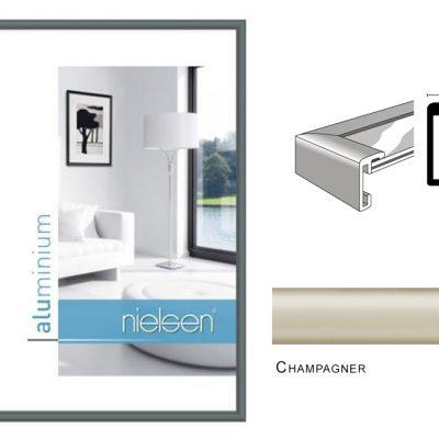 Aluminium Rahmen Nielsen Classic Champagner
