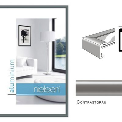 Aluminium Rahmen Nielsen Classic Contrastgrau