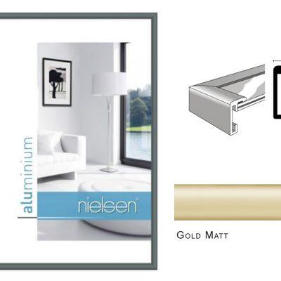Aluminium Rahmen Nielsen Classic Gold Matt