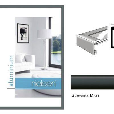 Aluminium Rahmen Nielsen Classic Schwarz Matt