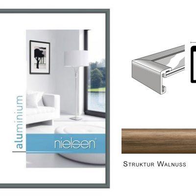 Aluminium Rahmen Nielsen Classic Struktur Walnuss
