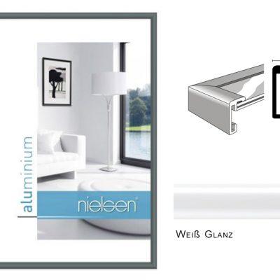 Aluminium Rahmen Nielsen Classic Weiß Glanz