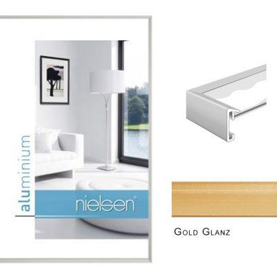 Aluminium Rahmen Nielsen Pixel Gold Glanz