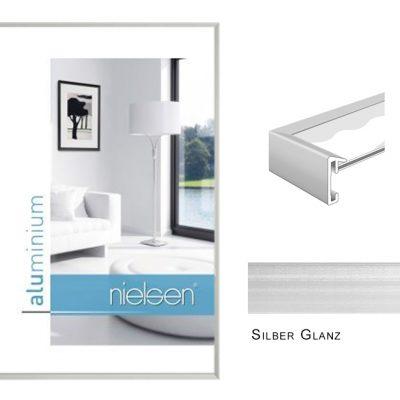 Aluminium Rahmen Nielsen Pixel Silber Glanz