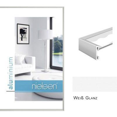 Aluminium Rahmen Nielsen Pixel Weiß Glanz