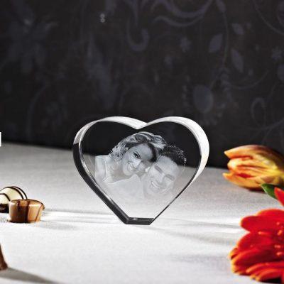 3D Glas Herz M