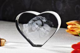 2D Glas Herz