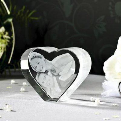 3D Glas Herz L
