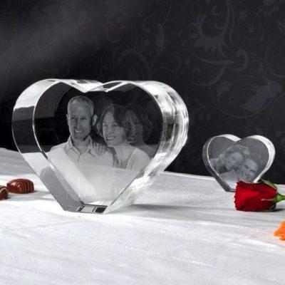 3D Glas Herz XL