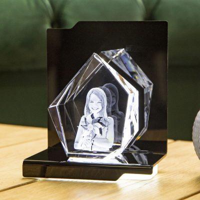 Leuchtsockel für 3D Laserfoto