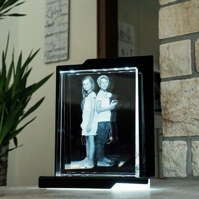 Leuchtsockel für 2D Laserfoto